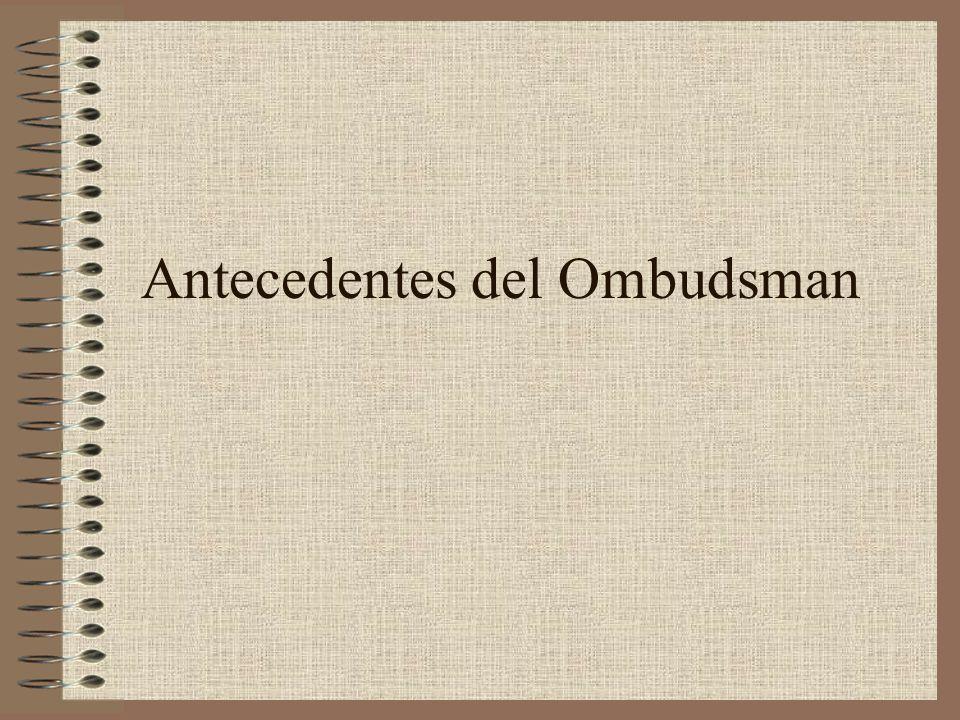 Antecedentes del Ombudsman