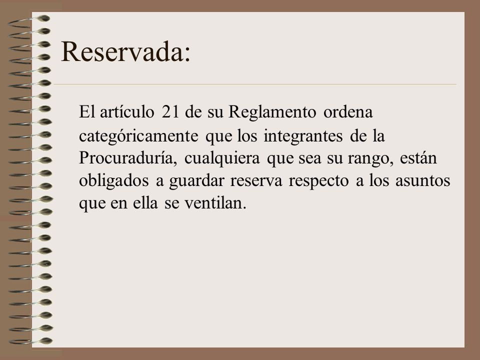 Reservada: