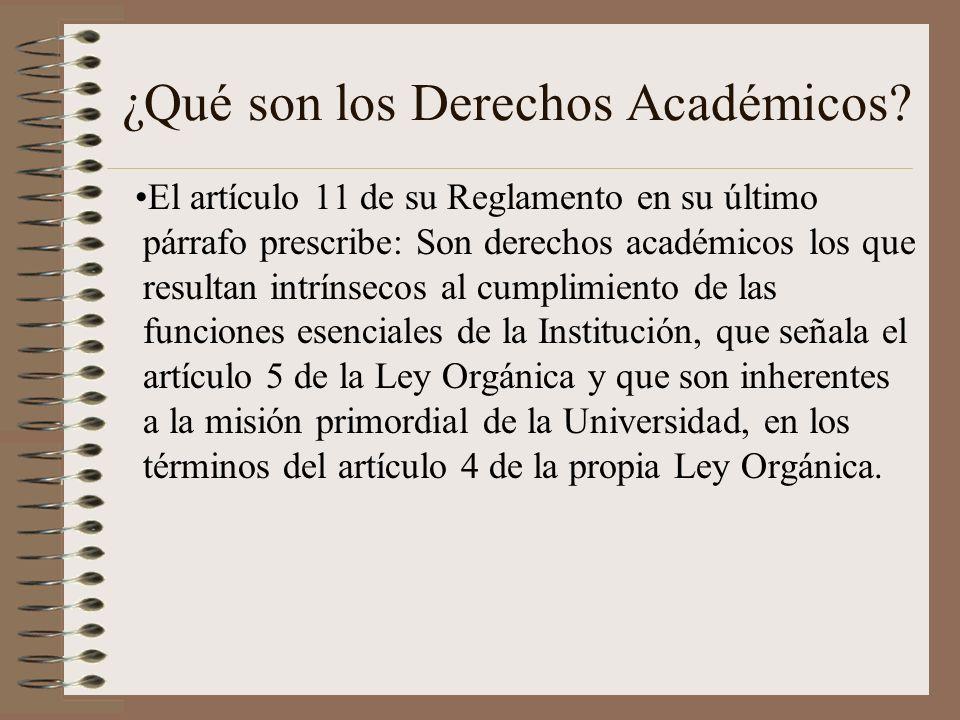 ¿Qué son los Derechos Académicos