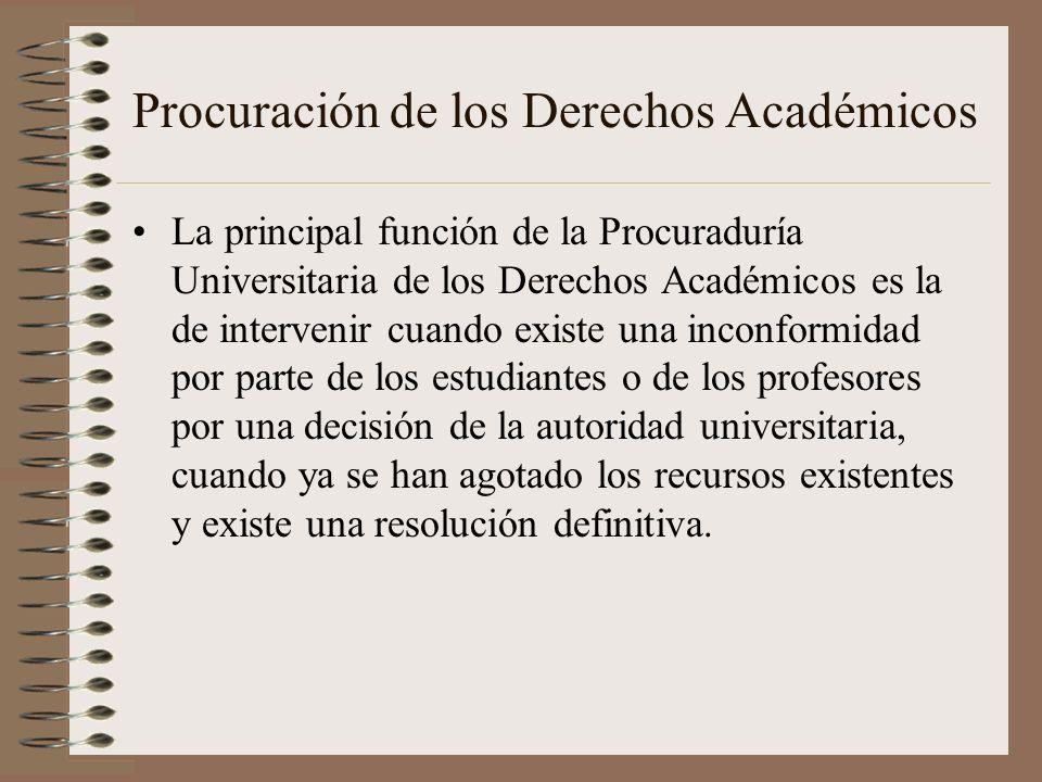 Procuración de los Derechos Académicos
