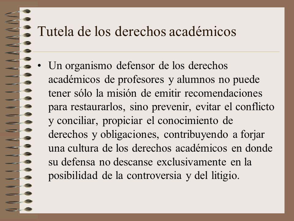 Tutela de los derechos académicos