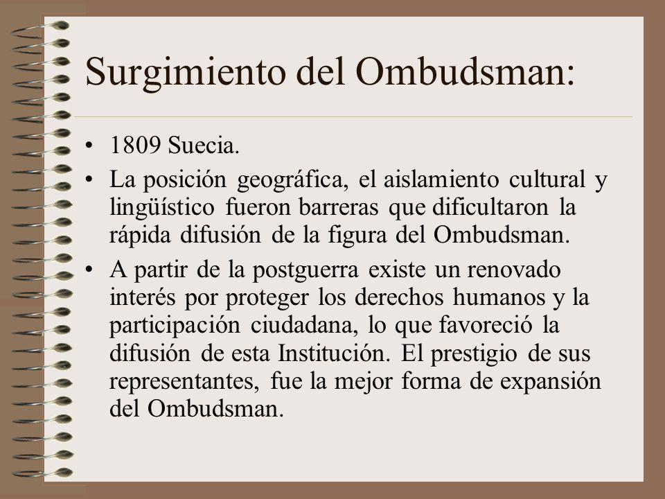 Surgimiento del Ombudsman: