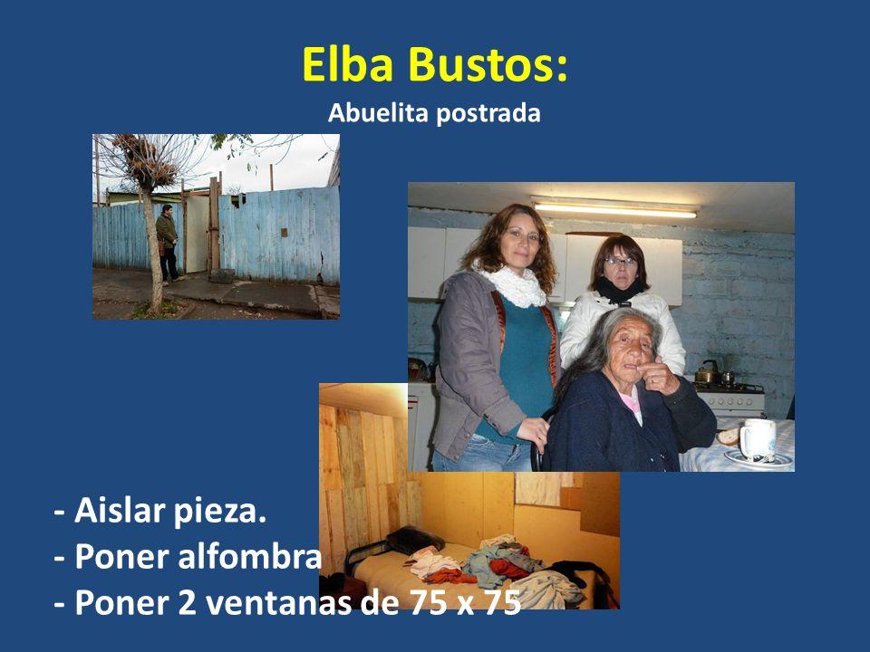 Elba Bustos: Abuelita postrada