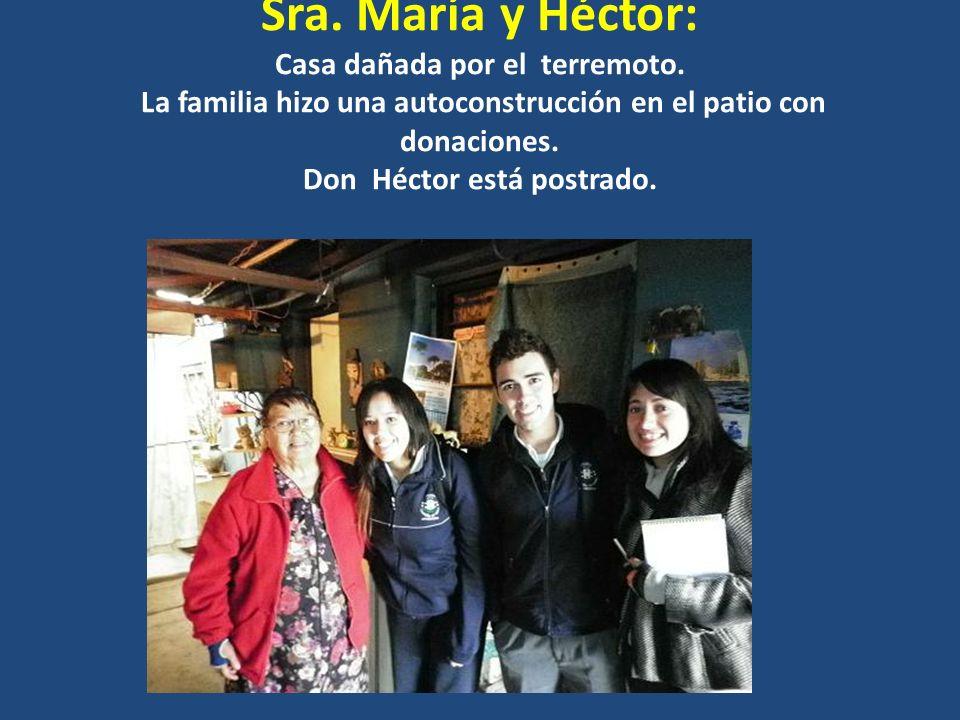 Sra. María y Héctor: Casa dañada por el terremoto