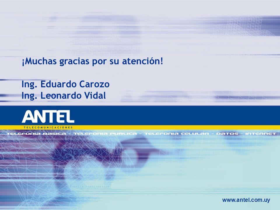 ¡Muchas gracias por su atención! Ing. Eduardo Carozo