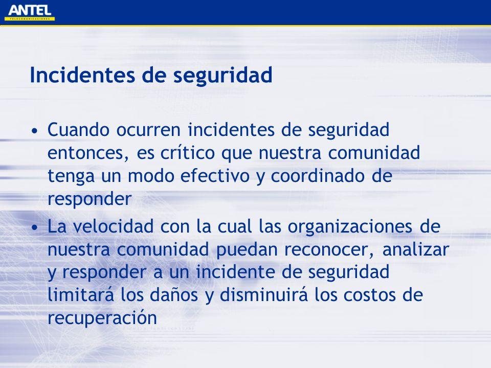 Incidentes de seguridad