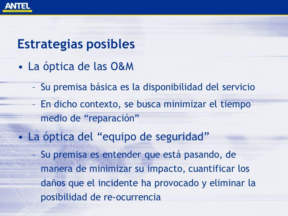 Estrategias posibles La óptica de las O&M