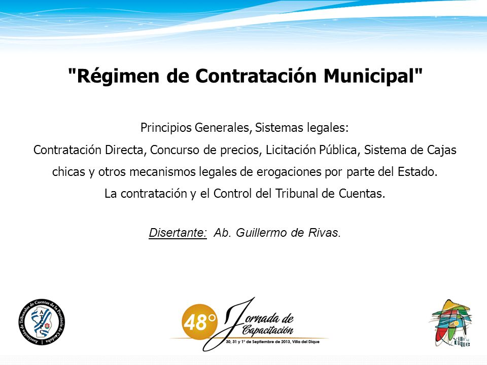 Régimen de Contratación Municipal