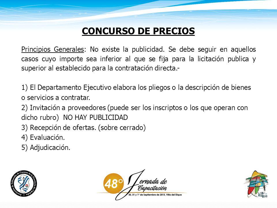 CONCURSO DE PRECIOS