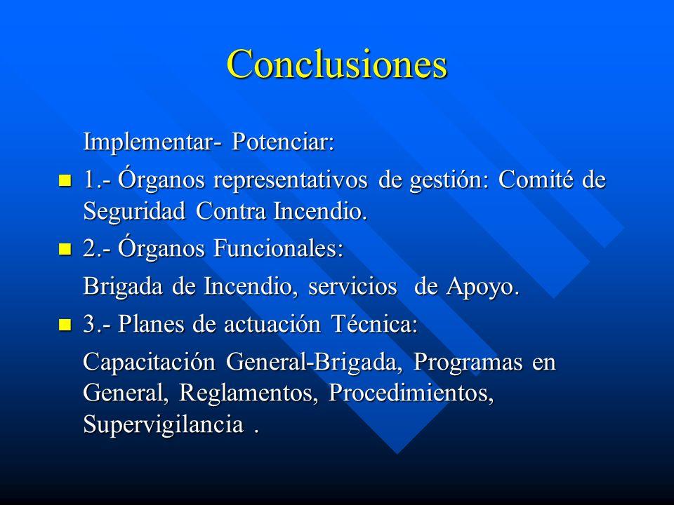 Conclusiones Implementar- Potenciar: