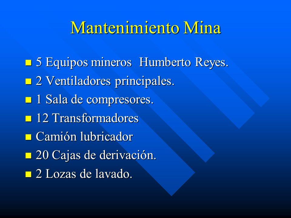 Mantenimiento Mina 5 Equipos mineros Humberto Reyes.