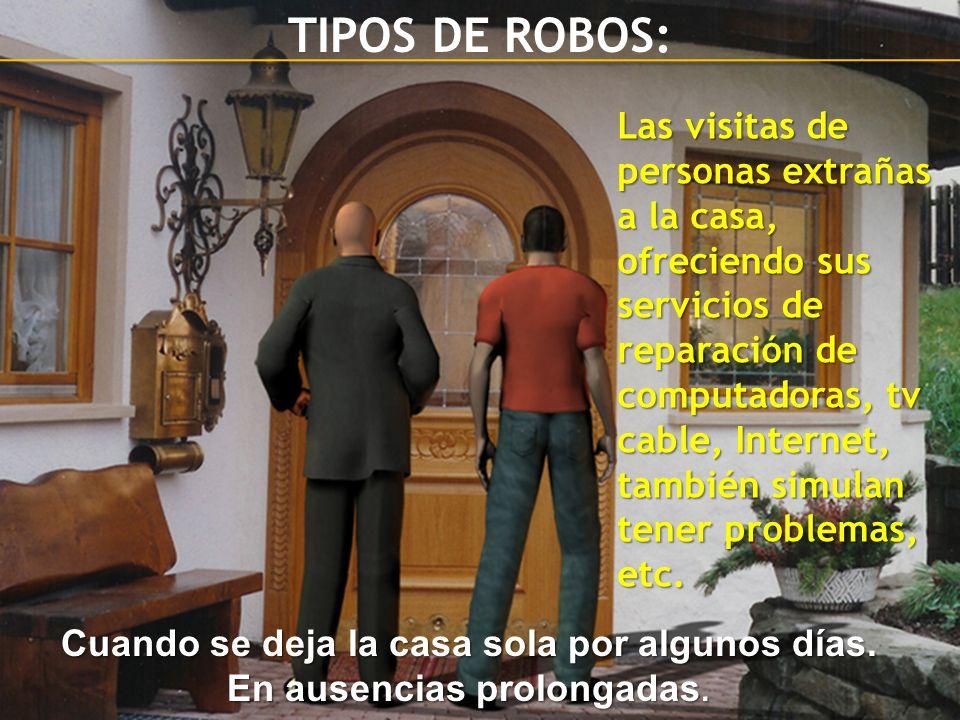 TIPOS DE ROBOS: