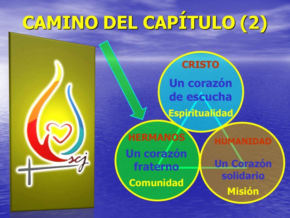 CAMINO DEL CAPÍTULO (2) Un corazón de escucha Un corazón fraterno