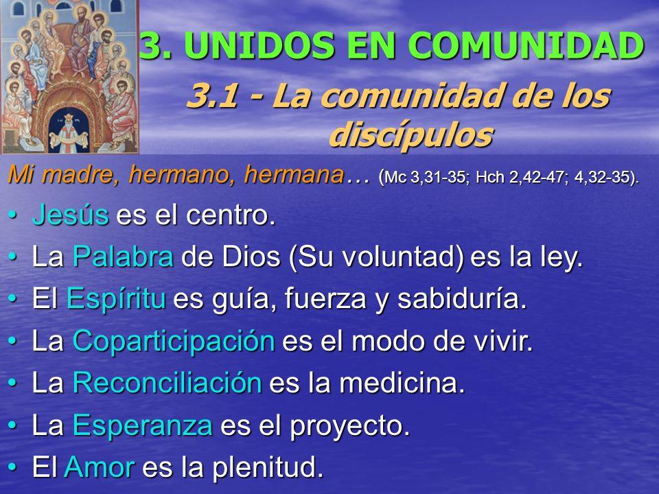 3.1 - La comunidad de los discípulos