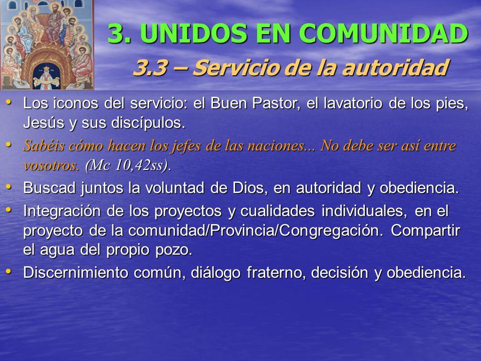3.3 – Servicio de la autoridad