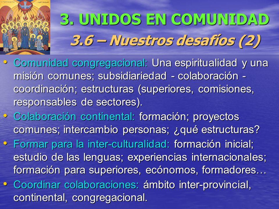 3. UNIDOS EN COMUNIDAD 3.6 – Nuestros desafíos (2)