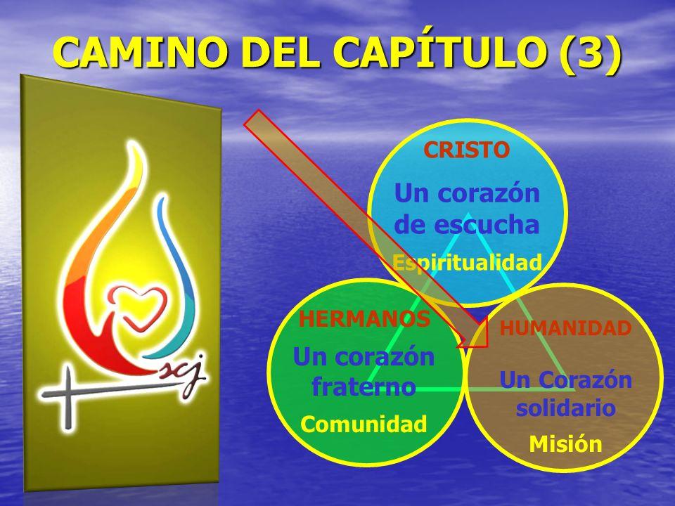 CAMINO DEL CAPÍTULO (3) Un corazón de escucha Un corazón fraterno