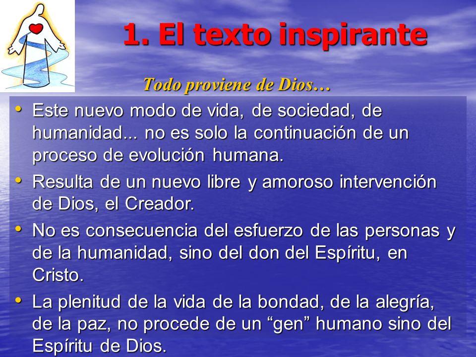 1. El texto inspirante Todo proviene de Dios…