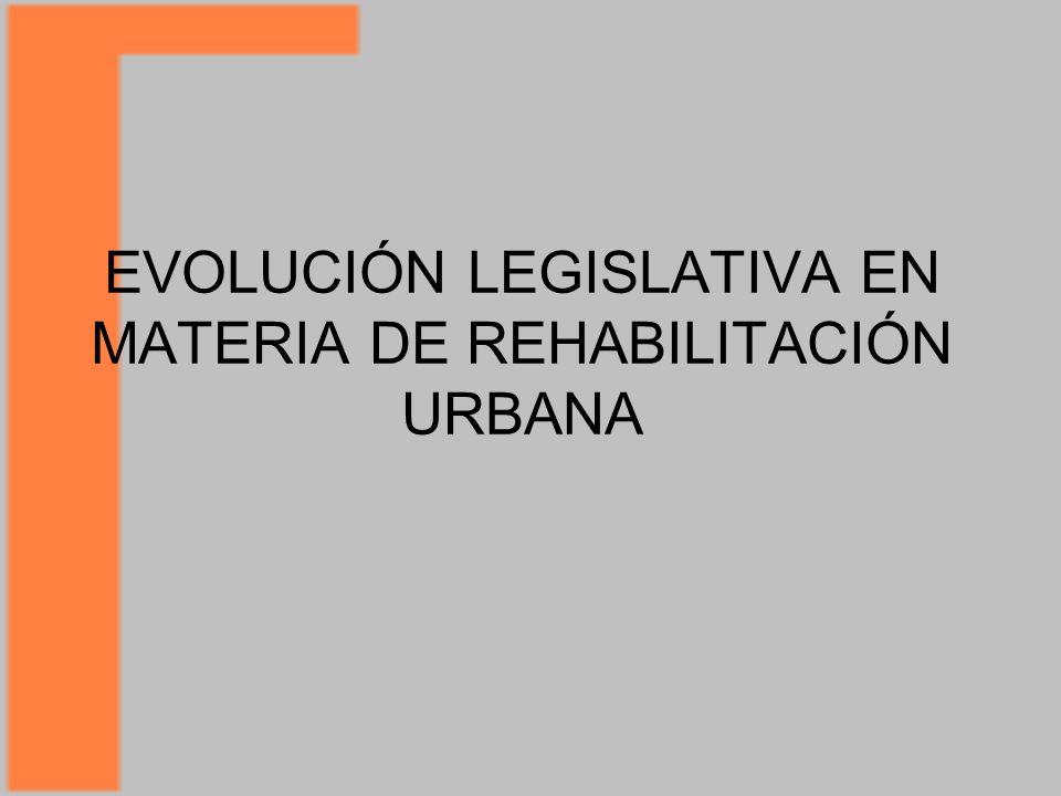 EVOLUCIÓN LEGISLATIVA EN MATERIA DE REHABILITACIÓN URBANA