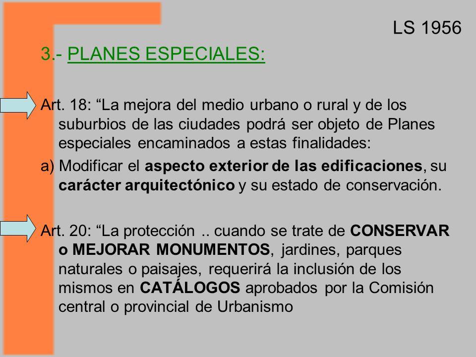 LS 1956 3.- PLANES ESPECIALES: