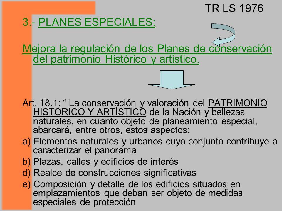 TR LS 1976 3.- PLANES ESPECIALES: