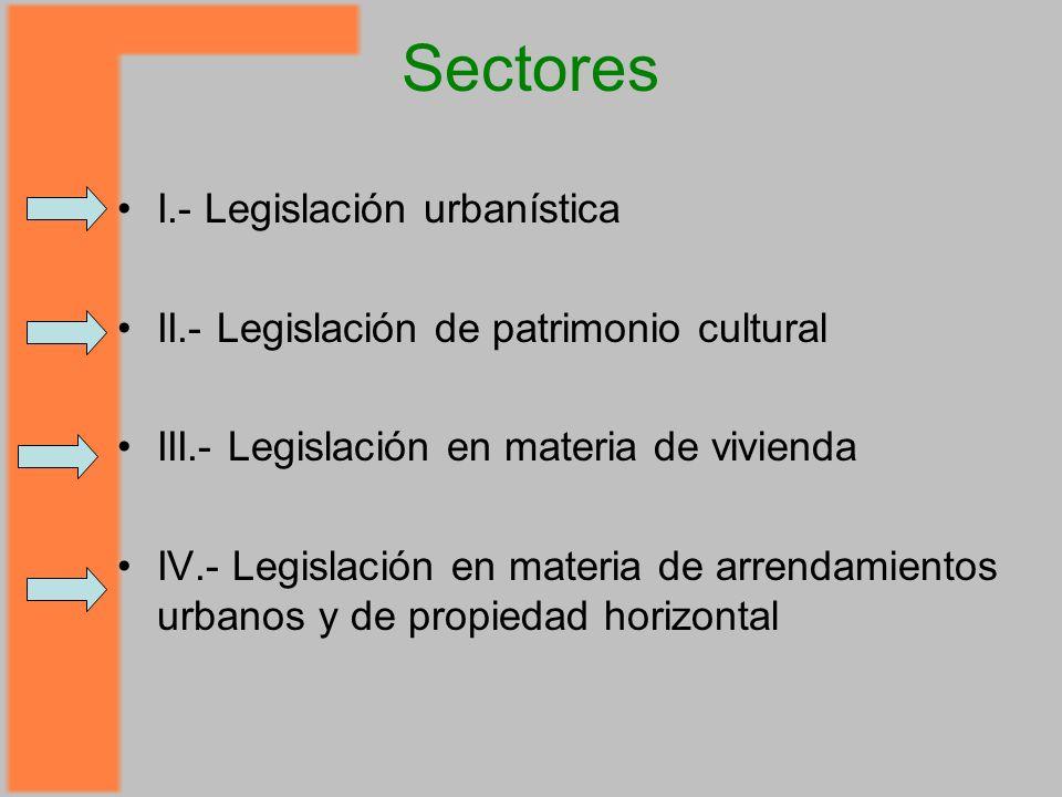Sectores I.- Legislación urbanística