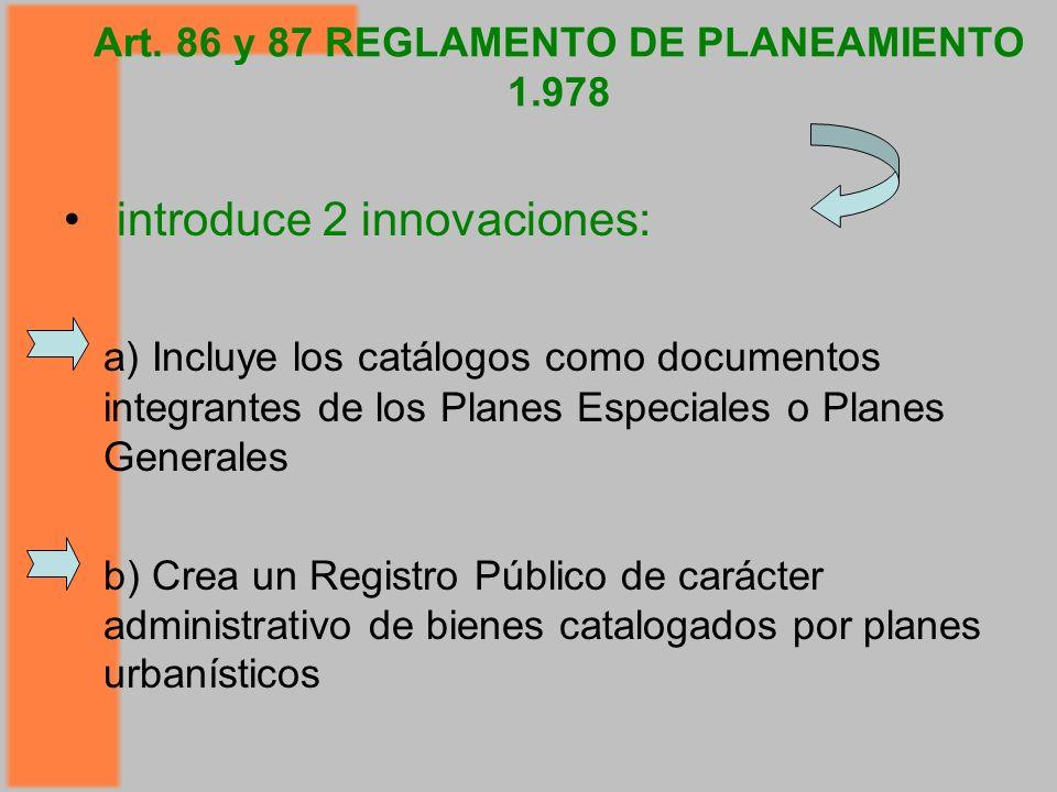 Art. 86 y 87 REGLAMENTO DE PLANEAMIENTO 1.978
