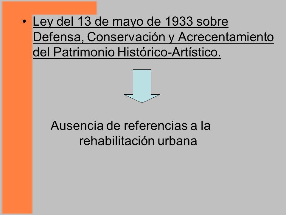 Ley del 13 de mayo de 1933 sobre Defensa, Conservación y Acrecentamiento del Patrimonio Histórico-Artístico.