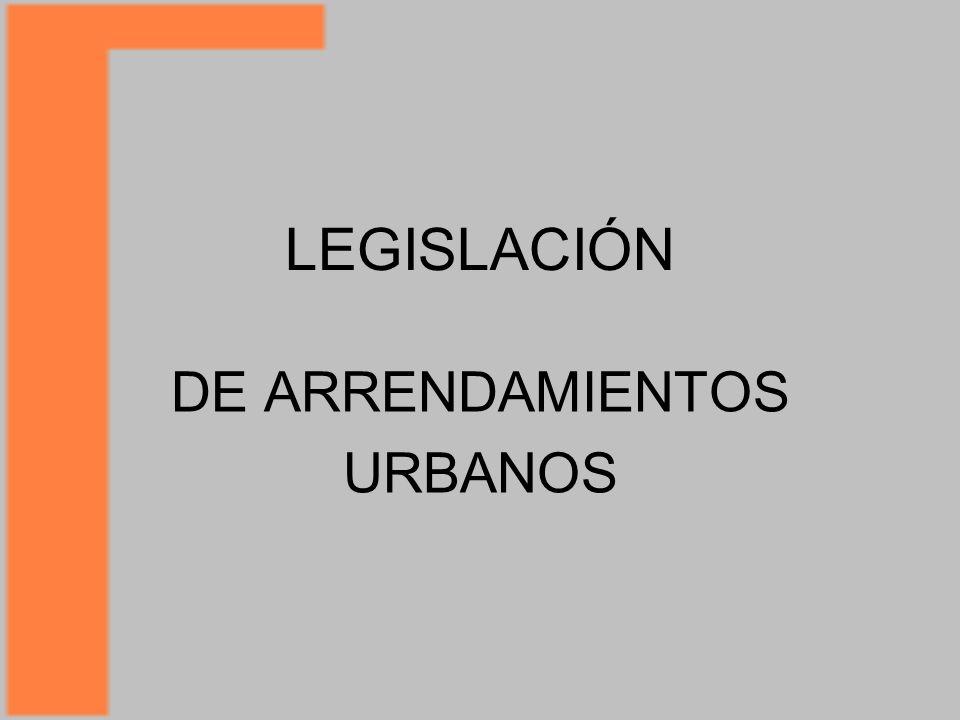 DE ARRENDAMIENTOS URBANOS