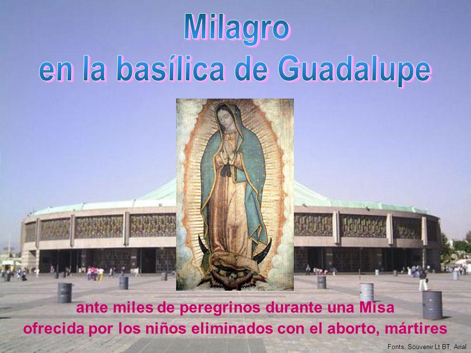 Milagro en la basílica de Guadalupe