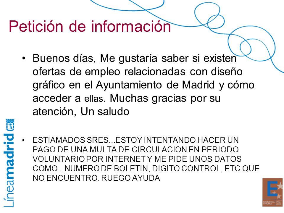 Petición de información
