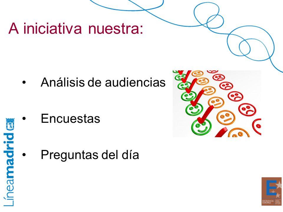 A iniciativa nuestra: Análisis de audiencias Encuestas