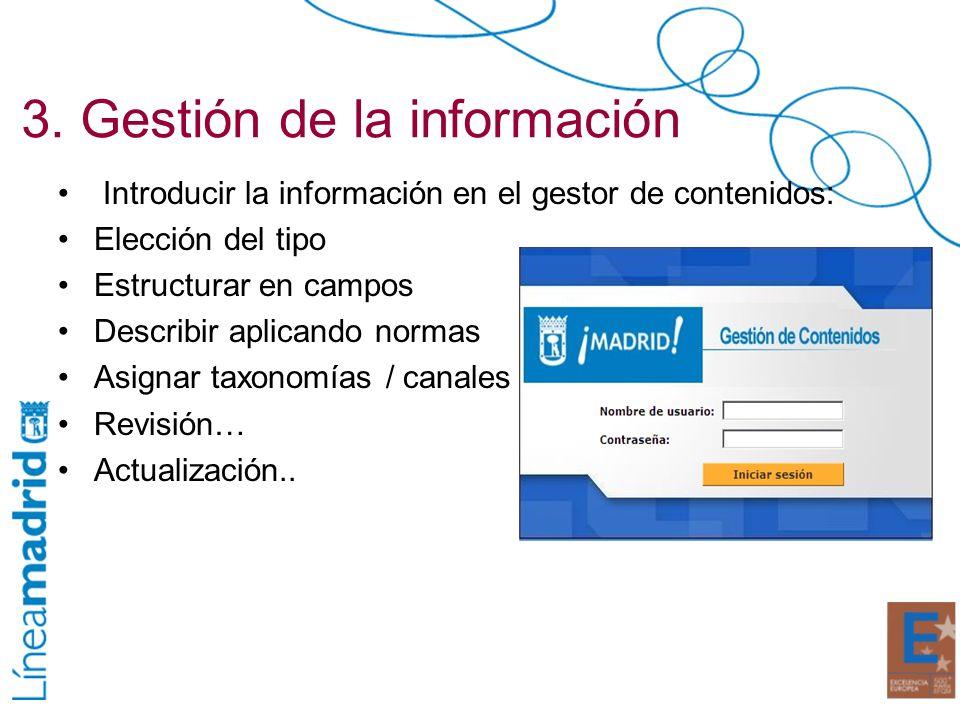 3. Gestión de la información