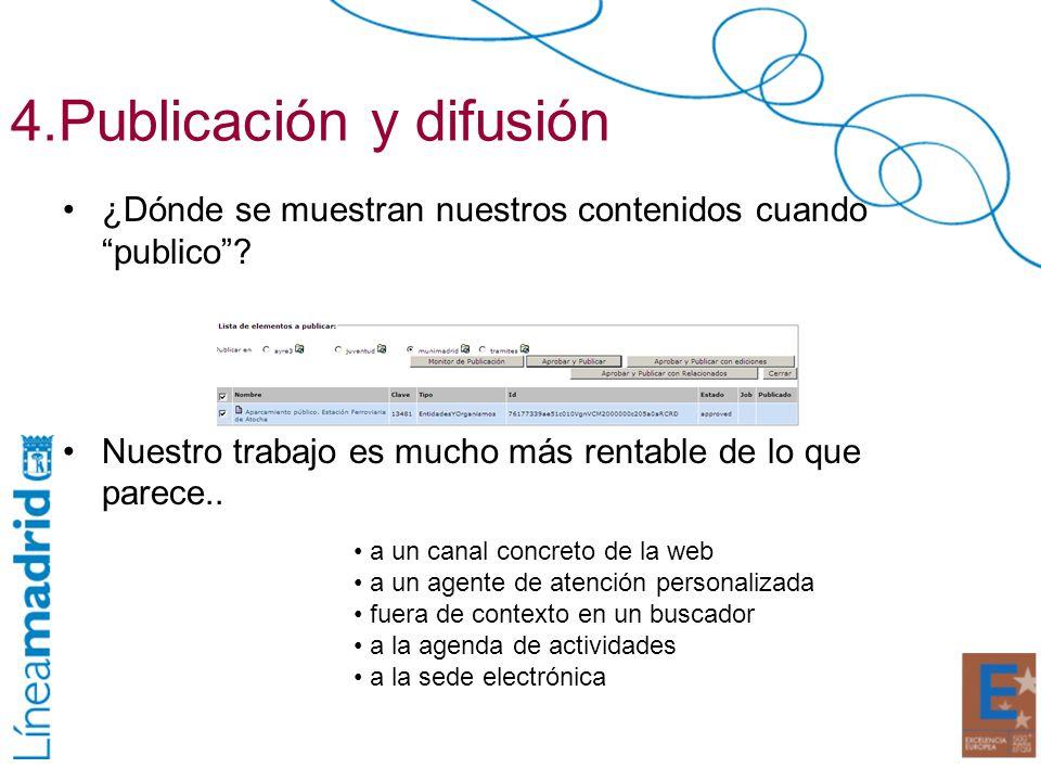 4.Publicación y difusión