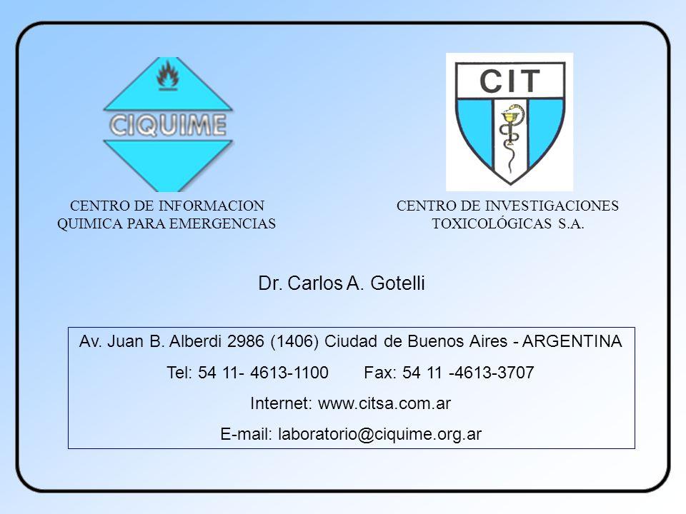 CENTRO DE INFORMACION QUIMICA PARA EMERGENCIAS