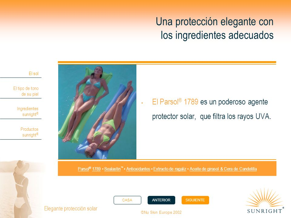 Una protección elegante con los ingredientes adecuados