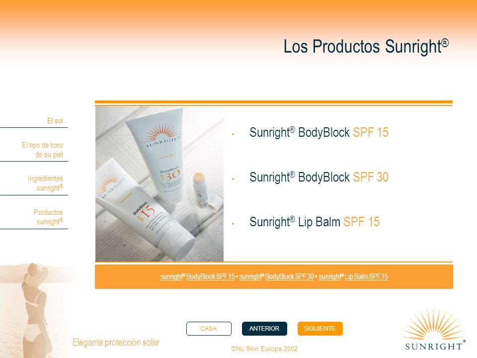 Los Productos Sunright®