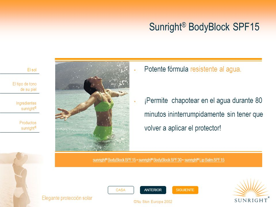 Sunright® BodyBlock SPF15