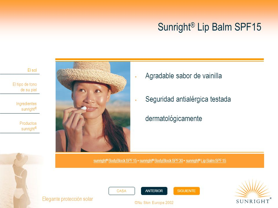Sunright® Lip Balm SPF15 Agradable sabor de vainilla