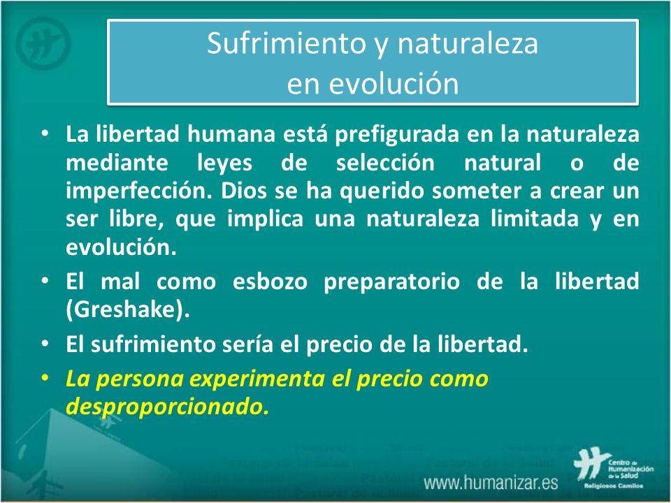 Sufrimiento y naturaleza en evolución