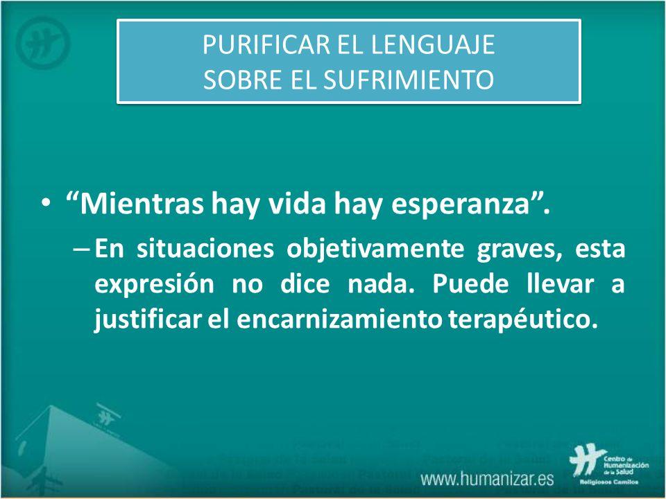 PURIFICAR EL LENGUAJE SOBRE EL SUFRIMIENTO