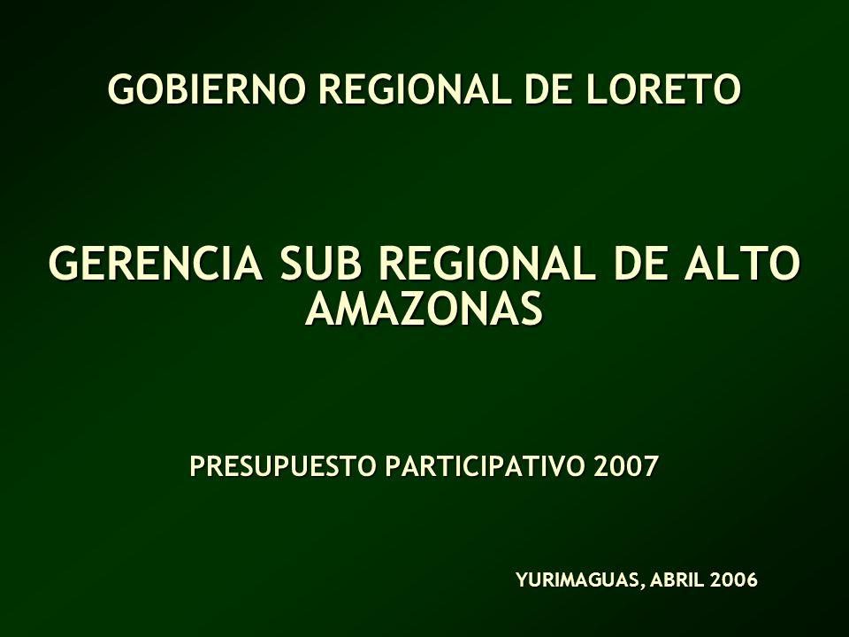 GOBIERNO REGIONAL DE LORETO