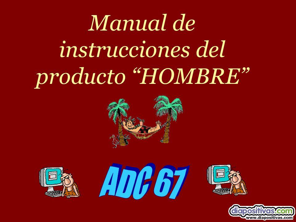 Manual de instrucciones del producto HOMBRE