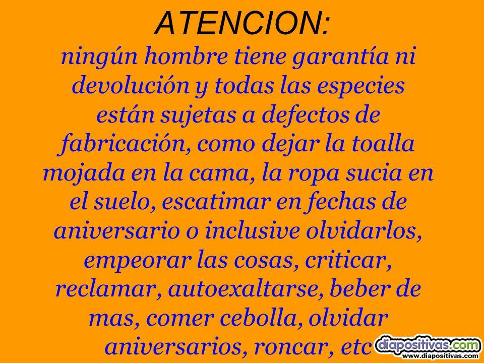 ATENCION: