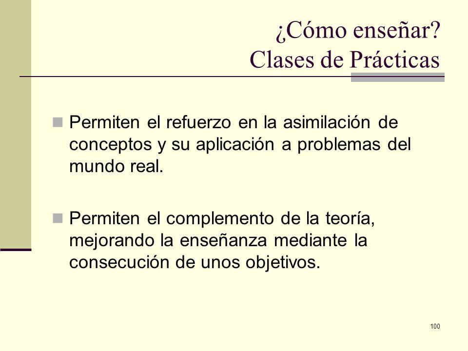 ¿Cómo enseñar Clases de Prácticas