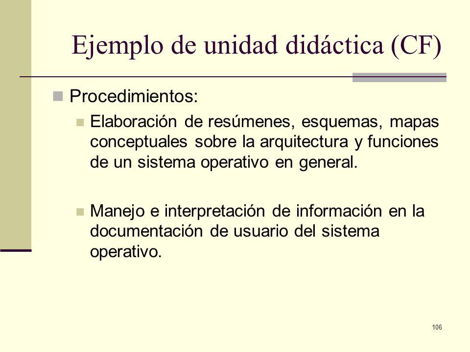 Ejemplo de unidad didáctica (CF)