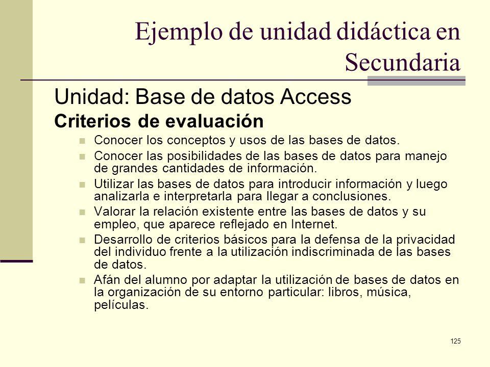 Ejemplo de unidad didáctica en Secundaria