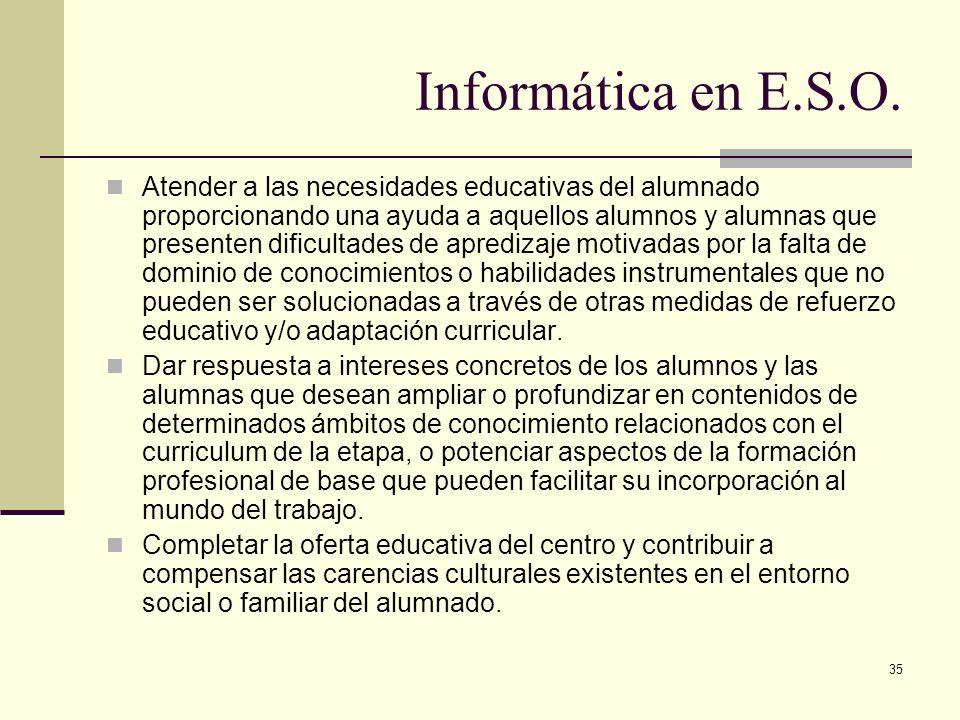 Informática en E.S.O.