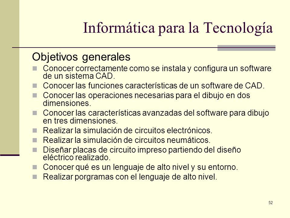 Informática para la Tecnología