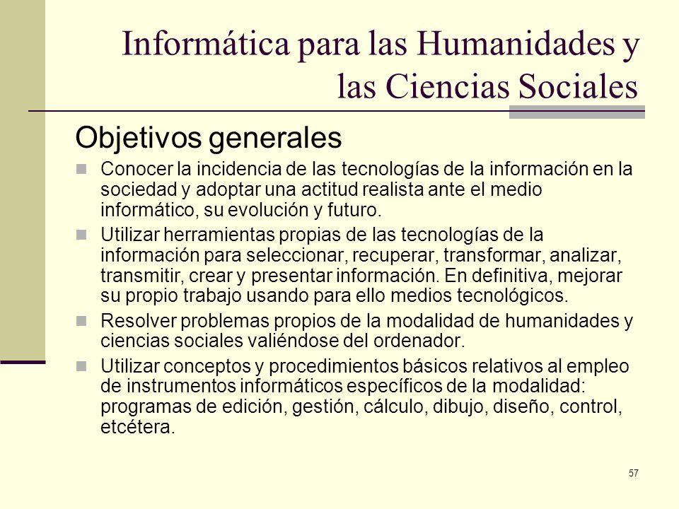 Informática para las Humanidades y las Ciencias Sociales